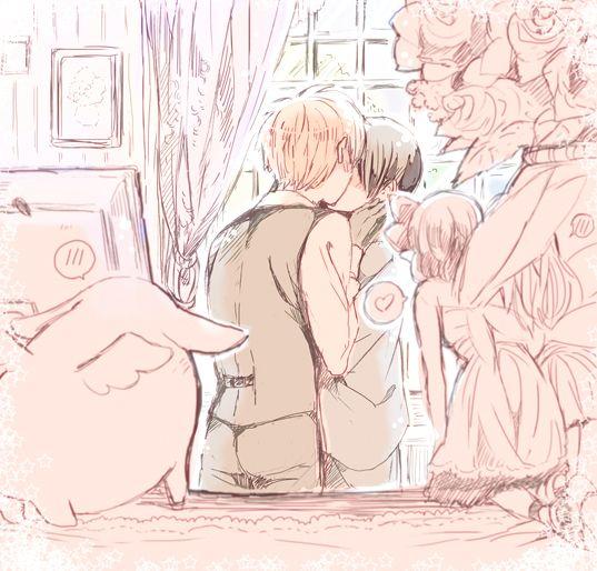 【腐向】妖精さんは見た【島国同盟】 Pixiv ID: 39581252 Member: あぷり AsaKiku