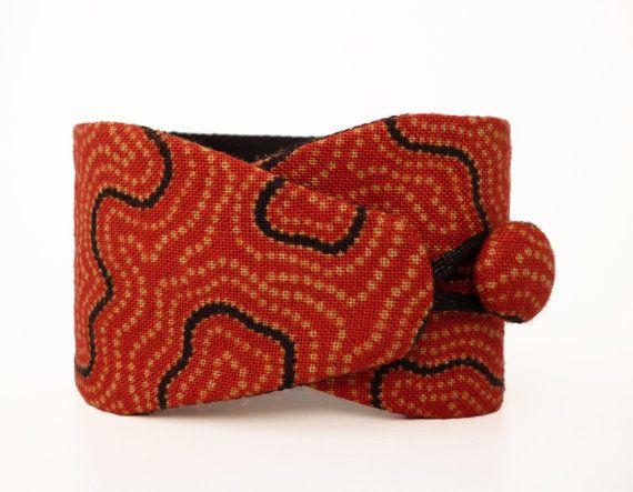 Obi bracelet Hamako  japanese fabric 100% cotton  by Obimaika