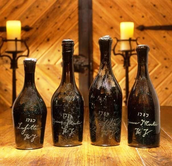 Top 10 Most Expensive Red Wines In The World: Vintage for Sale and Rarest Collections - Financesonline.com  The most expensive standard bottle of wine, this vintage is believed to be from Thomas Jefferson's cellar. A ThJ initials are etched in the glass. The third president and one of the founding fathers was an ambassador to France and he's said to spend much time visiting the Bordeaux and Burgundy vineyards for his wine collection.