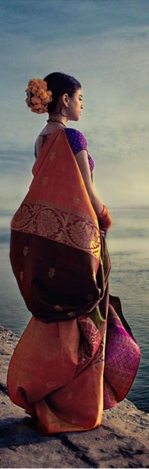 Shot in Varanasi for Laffaire Sarees by dominique
