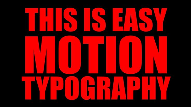 Motion Kinetic Typography With Adobe Premiere