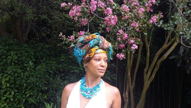 African head-dress. Loving the infinite possibilities!