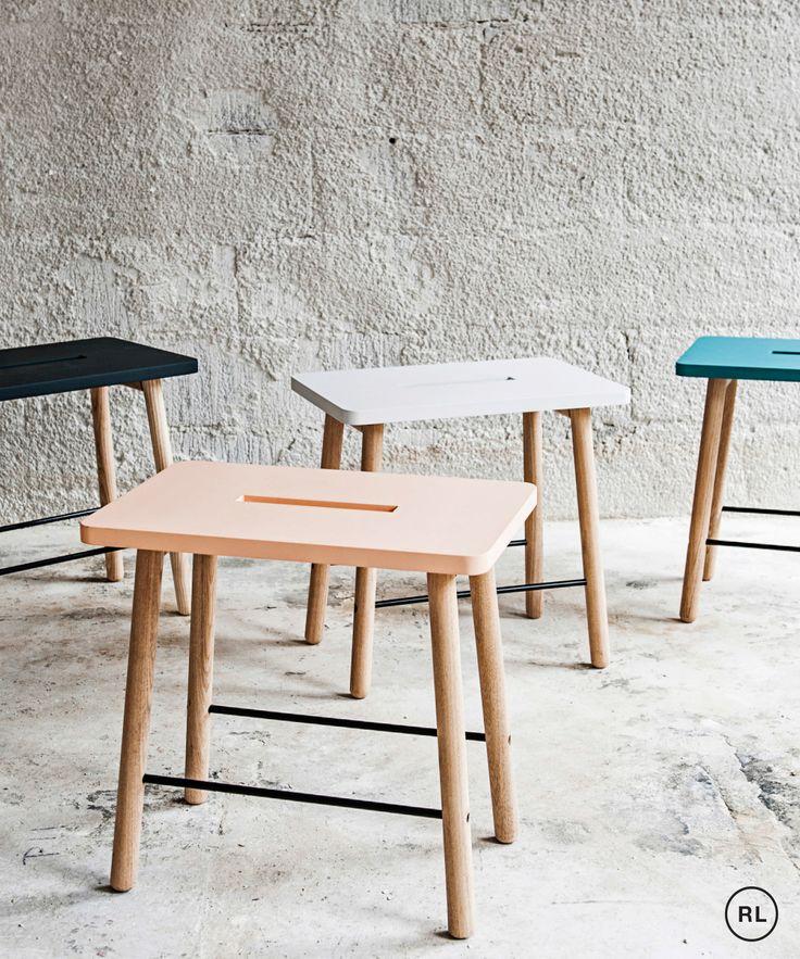 Scandi inspired pick me stool from Urbaani Homewares.