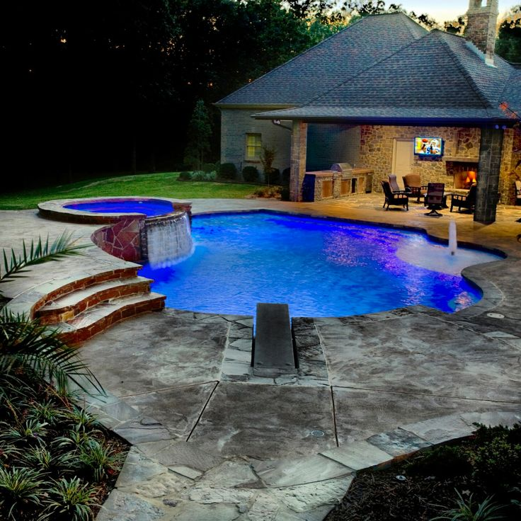 17 Best Images About Realistic Swimming Pool Ideas On Pinterest Pool Waterfall Rock Waterfall