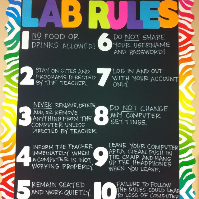 computer lab rules - Google Search