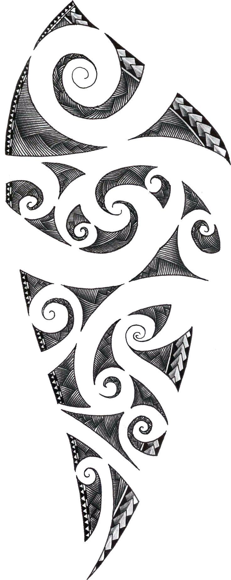 Maori Tattoo Design by ZakonKrancaSwiata.deviantart.com