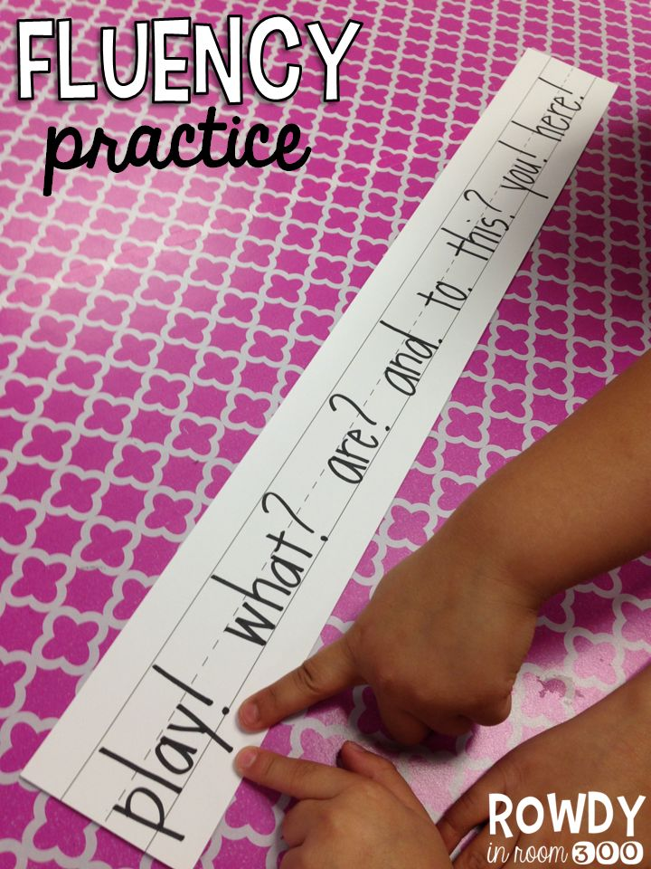 Fluency practice with punctuation!