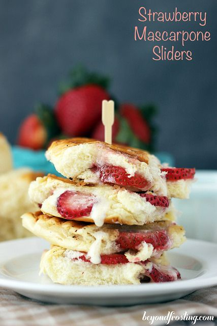 Strawberry Mascarpone Sliders | beyondfrosting.com | #strawberry # ...