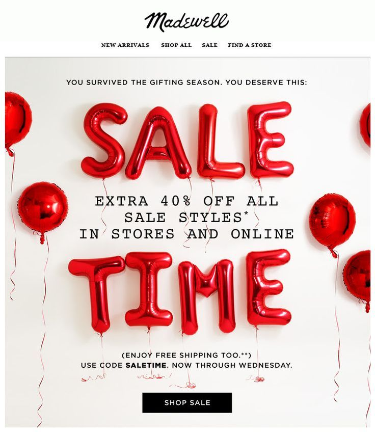 MADEWELL SALE EMAIL - Google Search
