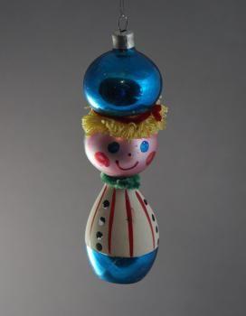 Junge Clown 1960 Alter Christbaumschmuck Vintage Christmas