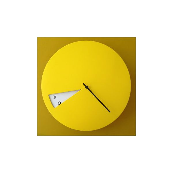 PRODUCTS :: LIVING AND DESIGN :: Accessories and Decorations :: Clocks :: Clocks on wall :: FreakishCLOCK Yellow