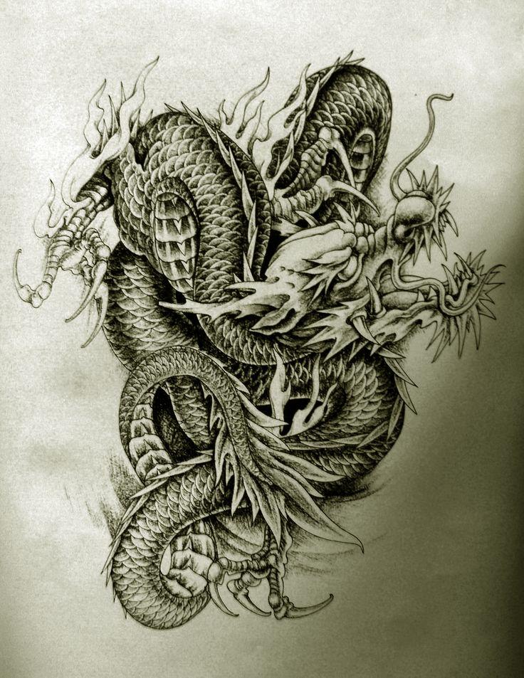 die besten 17 ideen zu chinesische drachen tattoos auf
