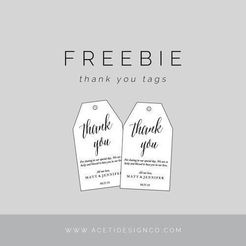 picture regarding Free Printable Favor Tags Template known as FREEBIE: Editable Thank Yourself Tags Present Programs/Tags Thank