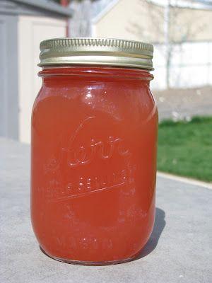 Rubarb juice  12c. slice rubarb  4c. water  1 lemon ..juice and zest  1 orange..juice and zest  1 1/2c. sugar