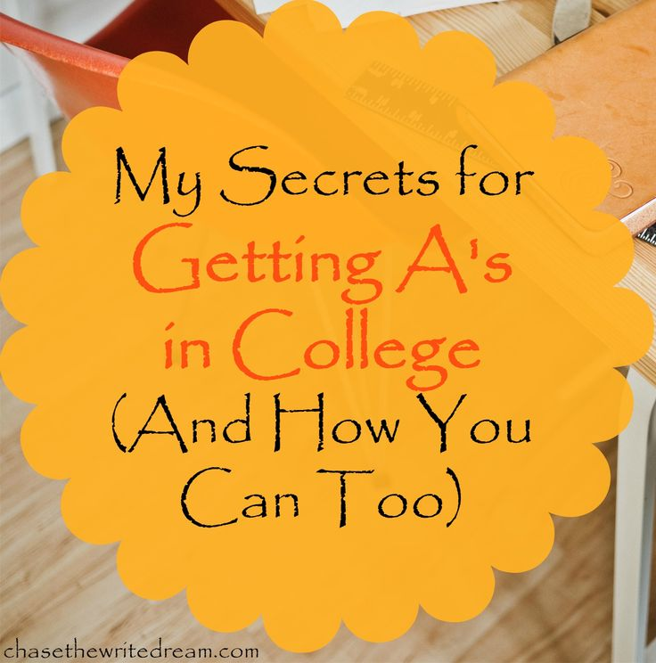 That's why I'm here to share my secrets to getting A's in college so that you can have a strong GPA by the time you graduate. It doesn't matter if you ...