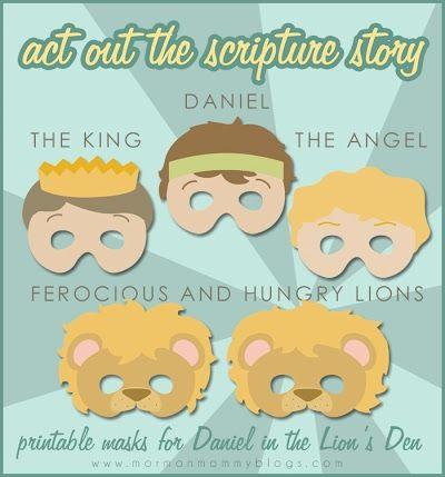 Daniel in the Lion's Den Printable Masks