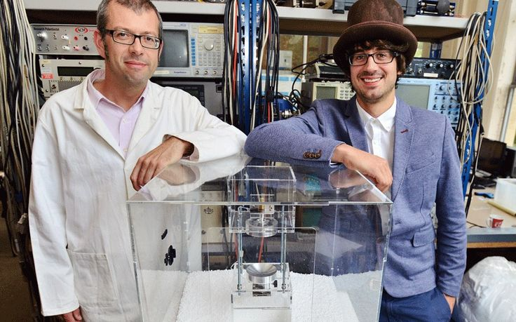 The Levitron, a 'levitating cocktail machine', uses ultrasonic sound waves to   float tiny droplets of alcohol which you can lick out of the air... And   that's not all its inventor has created