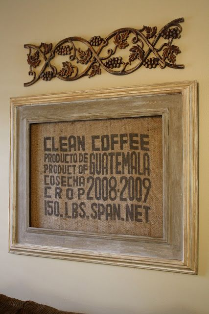 so i found this place on craigslist where they sell coffee sacks for $2.. I make me some frames!