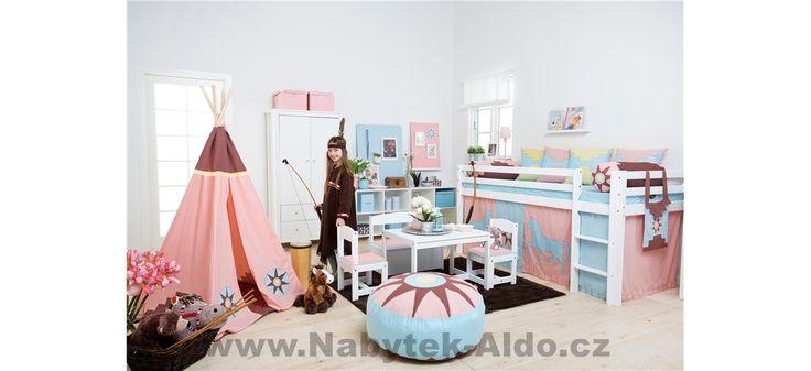 Dětský pokoj z masivu Indian Girl-Basic