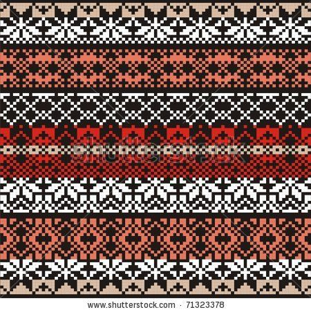 Woman ornamental pattern for knitting and embroidery. - stock vector