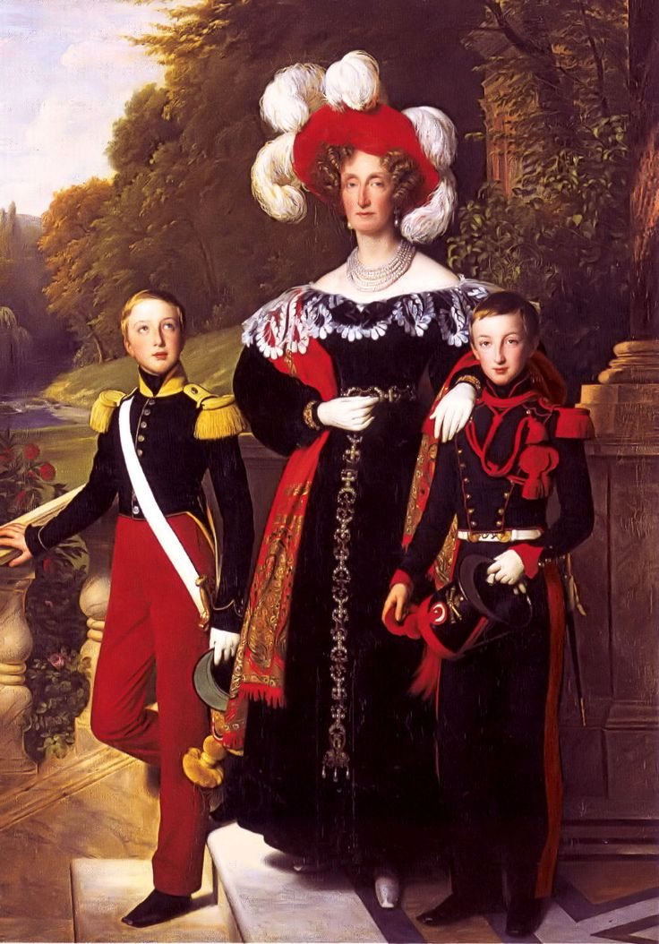 Queen Maria Amalia of the French, with her children Henry of Orleans, Duke of Aumale and Antoine of Orléans, Duke of Montpensier. Description from spanishroyals.tumblr.com. I searched for this on bing.com/images