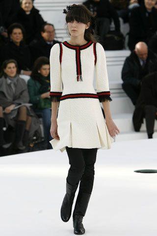 Chanel Spring 2006 Couture Fashion Show - Irina Lazareanu