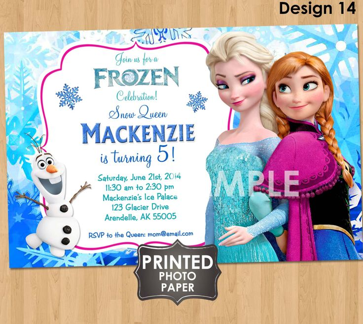 PRINTED Frozen Invitations  Disney Frozen by KidsPartyPrintables