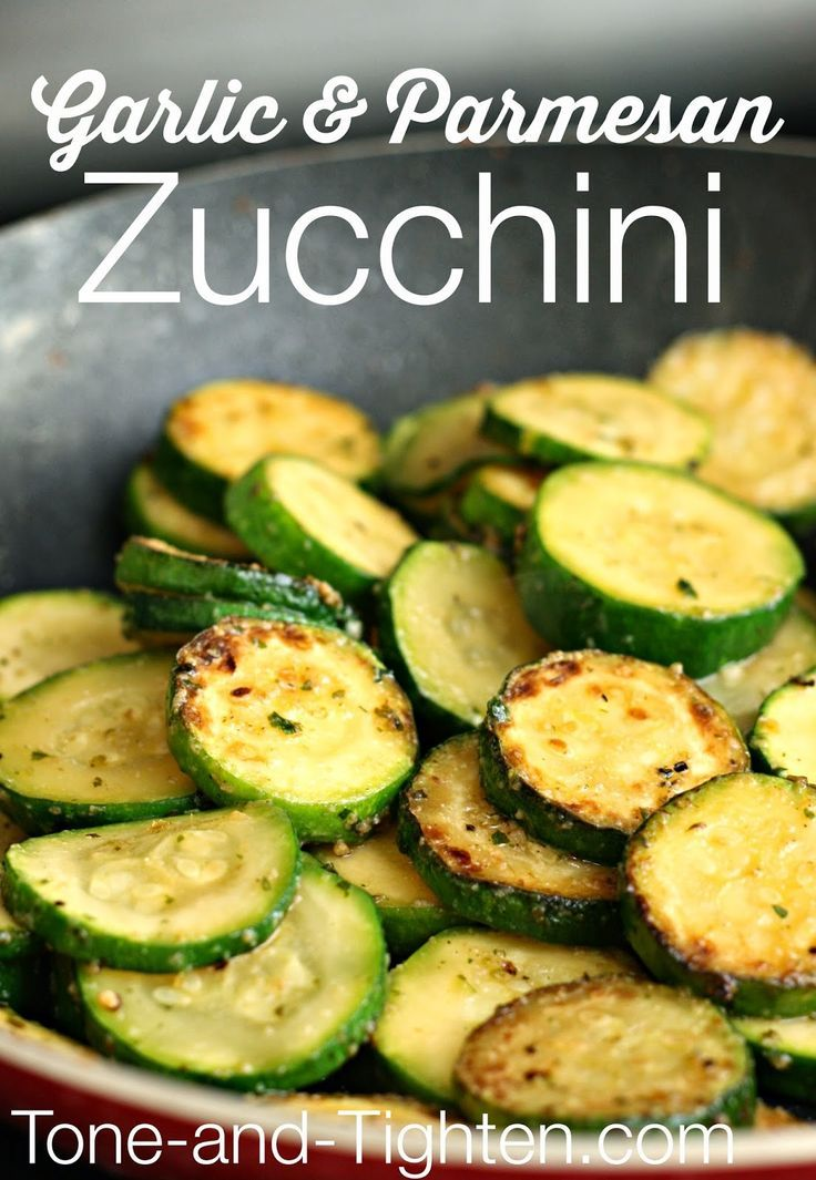 Easy Garlic and Parmesan Zucchini on Tone-and-Tighten.com