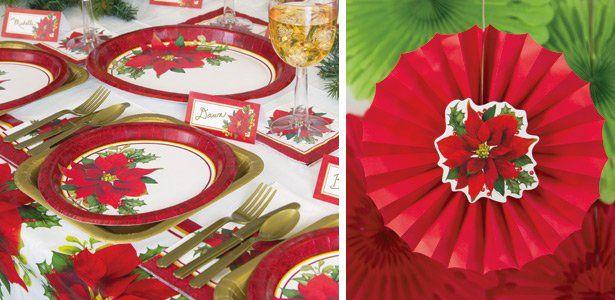 """Addobbi e decorazioni per feste a tema """"Stella di Natale"""" su VegaooParty"""