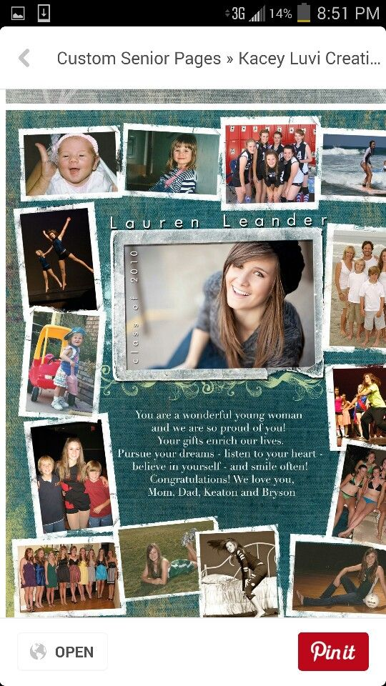 22 best senior ad ideas images on pinterest senior pictures grad parties and graduation ideas for Senior yearbook ad ideas