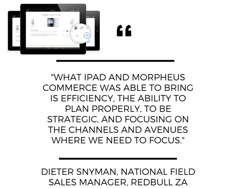 #iPad & #MorpheusCommerce working together for @RedBullZA to provide an effective sales force #app. #SFA @MyiStoreSA