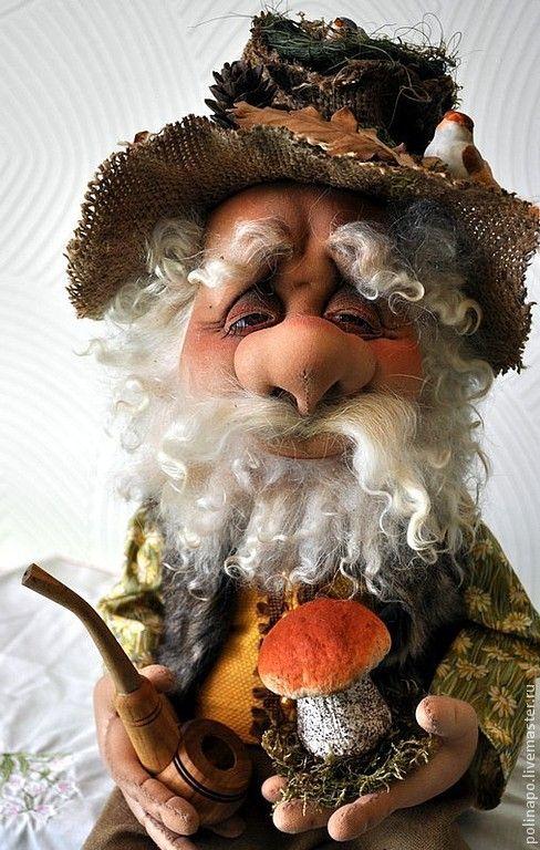Купить Лесовой - лесной, лесной житель, лесовик, авторская ручная работа, авторская кукла