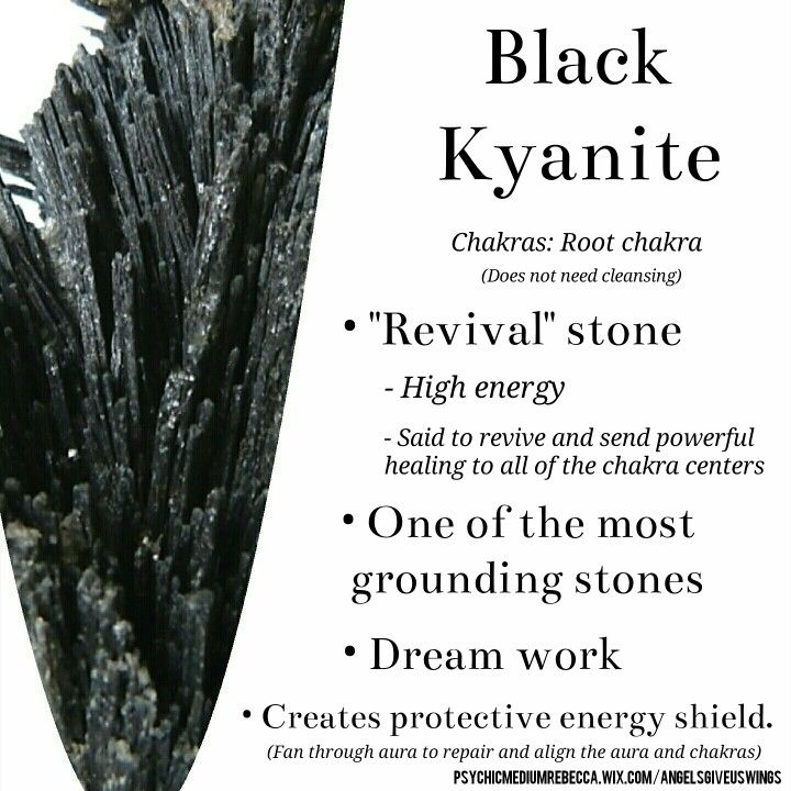 Black Kyanite crystal meaning~ It also recharges any stones with a simple touch❣