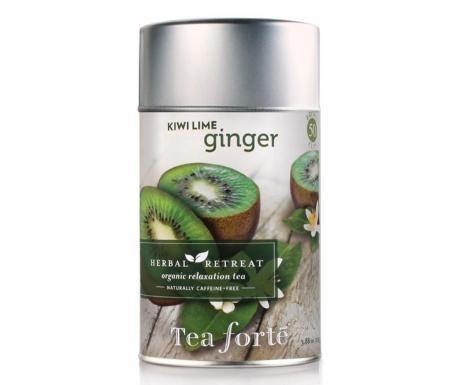 """O entuziasmanta selectie de arome de ceai  delicioase si rafinate in forma """"vrac"""" inchise  ermetic in cutii metalice. Aceasta colectie de  ceaiuri este lipsita de cafeina si este destinata pentru  momentele de liniste si meditatie. Ceai cu aroma de kiwi, lamaie si ghimbir.  Produsele sunt valabile pana in luna Octombrie a anului 2013."""