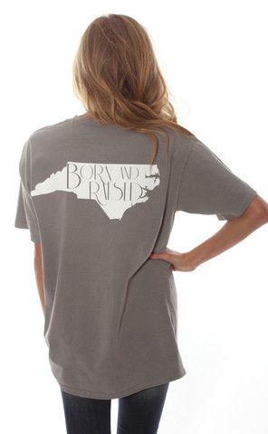 born & raised tee - North Carolina [grey]