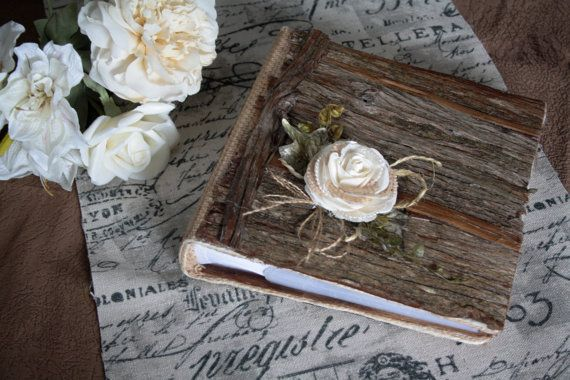 Photo Album/Wood wedding album/Rustic photo album/Burlap rustic album/Wooden Album/Vintage album/Rustic wedding album/Wedding present album