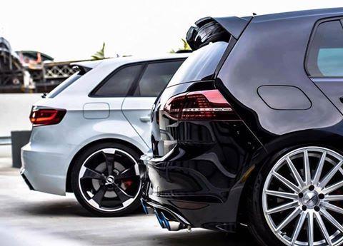 ¿A3 o Golf? #dadriver  #Audi #A3  #Volkswagen #Golf  @audispain   @vw_es