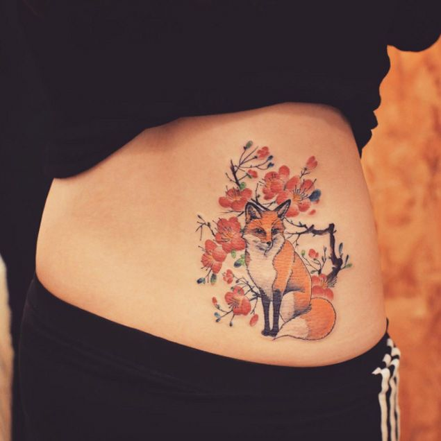 Best Fox Tattoo Ideas Images On Pinterest Fox Tattoos Foxes - Beautifully simple animal tattoos by cheyenne