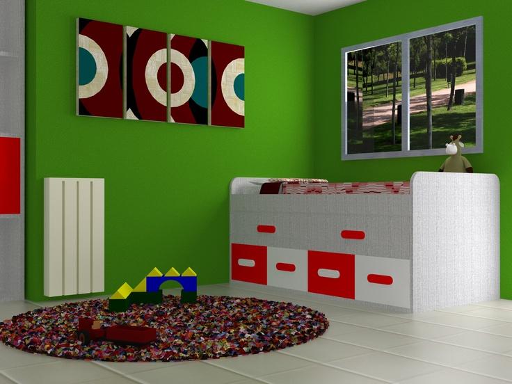 Dise o 3d d nde caben dos caben tres dise o de - Diseno habitaciones juveniles ...