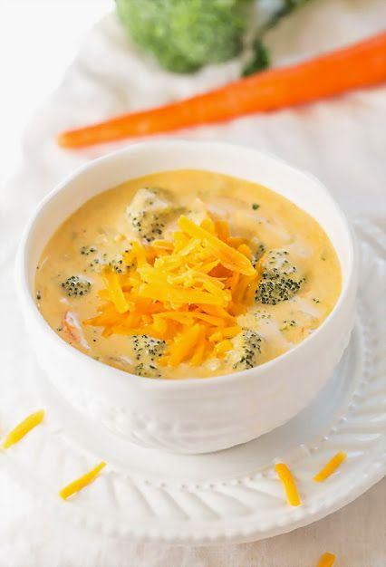 АППЕТИТНЫЕ БЛЮДА БЕЗ МЯСА  Суп с брокколи и сыром