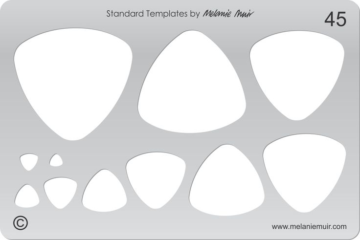 Acrylic template No. 45. Perfect for creating a wide variety of polymer, metal or clay bracelet, necklace, pendant and earring designs.