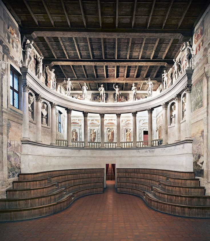 Sabbioneta, Teatro Olimpico, platea - Mantova