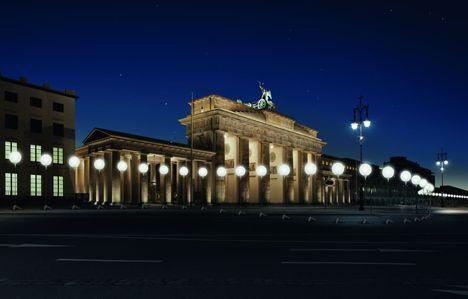 Lichtgrenze: A Light Art Installation  To Mark 25 years Fall Of The Berlin Wall