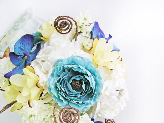 Pool Blue Wedding Bouquets : Best images about wedding flowers on bride