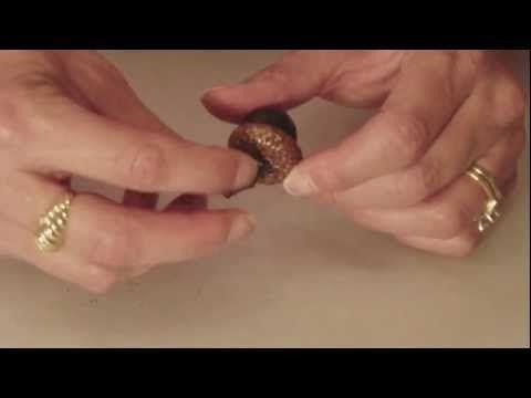 How to Make Fall Craft  Acorn Pendant - http://mysilverjewelry.org/pendants/how-to-make-fall-craft-acorn-pendant/