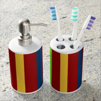 IMADEIRA SOAP DISPENSER & TOOTHBRUSH HOLDER - patterns pattern special unique design gift idea diy