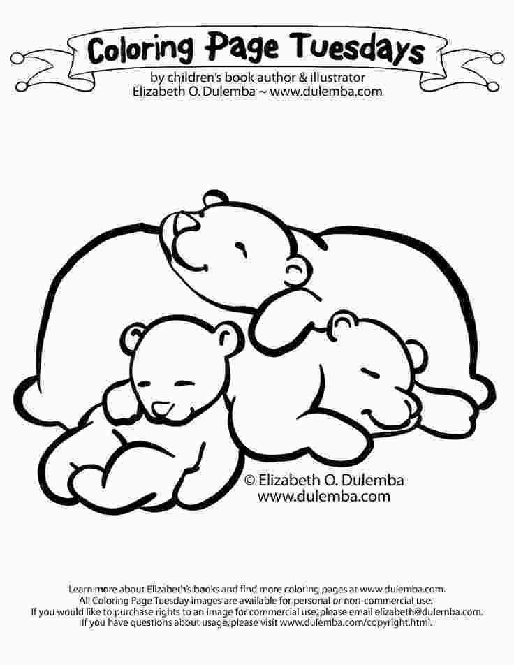 Free Printable Coloring Pages Hibernating Animals Sleeping Bears