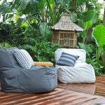 Modern Tropical Outdoor Patio Bean Bags Chairs