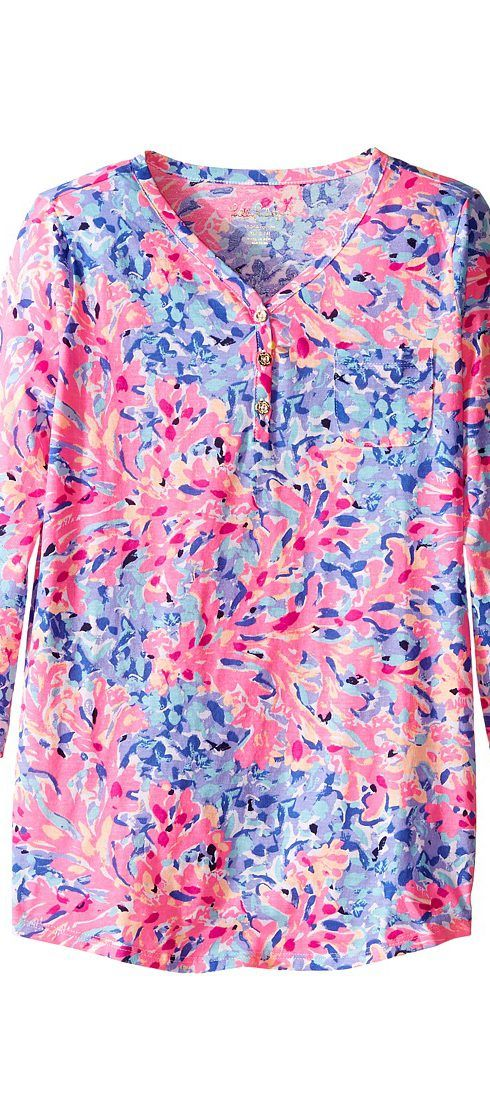 Lilly Pulitzer Kids Mini Palmetto Tunic Top (Toddler/Little Kids/Big Kids) (Multi Coco Coral Crab) Girl's Blouse - Lilly Pulitzer Kids, Mini Palmetto Tunic Top (Toddler/Little Kids/Big Kids), 23996-999PE8, Apparel Top Blouse, Blouse, Top, Apparel, Clothes Clothing, Gift, - Fashion Ideas To Inspire