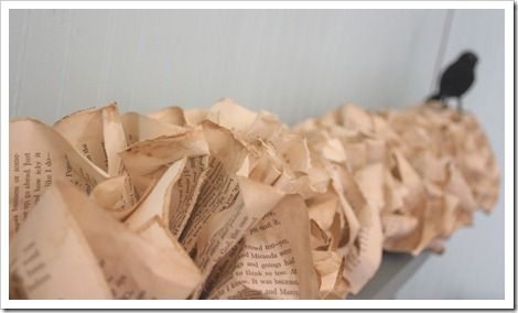 how to make a book page garland - so simple!